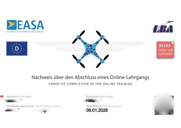 Kostenlos zum Drohnenführerschein A1